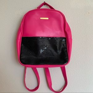 Juicy couture pink and black sequin book bag